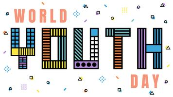 Bei vettori della giornata mondiale della gioventù