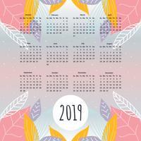 Vettore del calendario stampabile