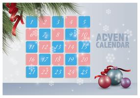 Calendario dell'Avvento stampabile