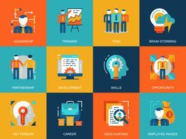 Set di icone di sviluppo aziendale