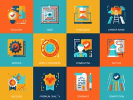 Set di icone di processo aziendale
