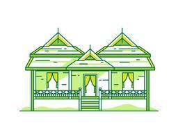 Thailandia tradizionale casa vettore