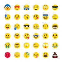 set vettoriale di pixel emoji