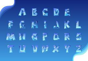 Vettore di alfabeto ghiacciato 3D