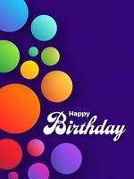 Vettore d'avanguardia festivo del biglietto di auguri per il compleanno