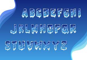 Semplice vettore di alfabeto ghiacciato