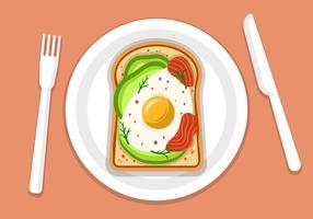 Toast di avocado con uova e tonno