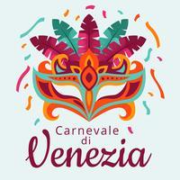 Vettore di Carnevale di Venezia