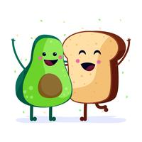 Toast all'avocado vettore