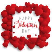 San Valentino sfondo con cuori di design