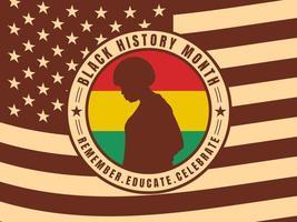 Funky Black History Month Vectors