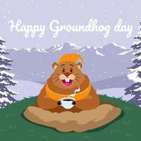 Ground Hog Day vettore