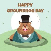 Ground Hog Day Celebration vettore