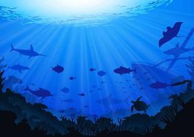 Ocean Background vettore