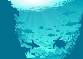 Deep Ocean Background vettore