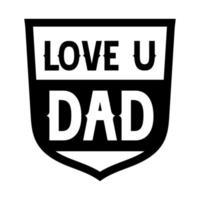 lettere di celebrazione del papà vettore