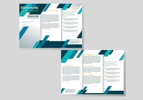 Professional Brochure Template Vector