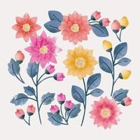 Vector Hand Drawn Flowers