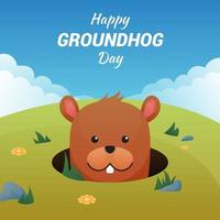 Groundhog day vettore