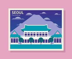 Seoul Illustration vettore