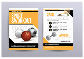 Sport And Workout Flyer vettore