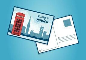 London Postcard Template vettore