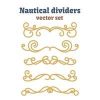 Dividers set. Nautical ropes. Decorative vector knots.