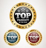 Top Product Gold Badges vettore