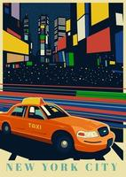 Time Square New York vettore
