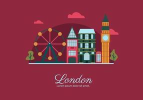 London Landmark Building Vector Flat Illustration