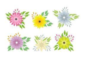 Flower Clipart set  vettore