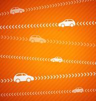 Fondo astratto dell'automobile con le bande, vettore grafico dell'illustrazione