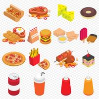 illustrazione del concetto di cibo spazzatura grafica informazioni
