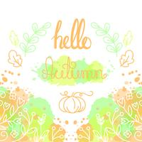 Ciao Autumn Card con lettering.