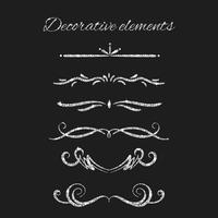 Set di elementi decorativi ornamentali