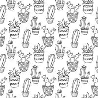 Illustrazione senza cuciture del cactus