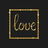 Carta di amore Moderna calligrafia pennello vettore