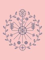 Vettore stabilito di bello fiore Clipart