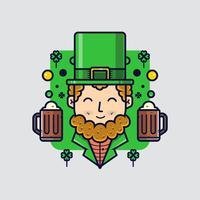 Leprechaun di clipart di giorno di St.Patricks vettore