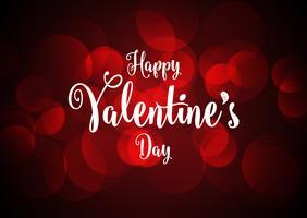 Priorità bassa di giorno del biglietto di S. Valentino con gli indicatori luminosi del bokeh