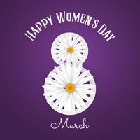Sfondo internazionale della giornata della donna con le margherite