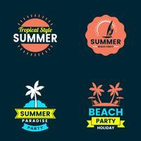 Summer Retro Vector Logo per banner