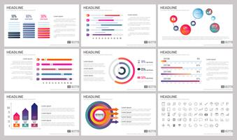 Elementi moderni di infografica per modelli di presentazioni vettore