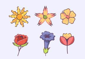 Set di clipart di fiori vettore