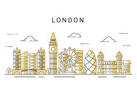 vettore di skyline della città di Londra