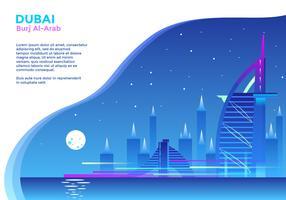 Burj Al Arab Hotel Dubai vettoriale
