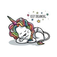 sonno leone sognando wannabe unicorno vettore