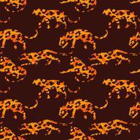 Seamless pattern esotico con sagome astratte di animali.