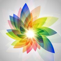 Illustrazione vettoriale colorato fiore