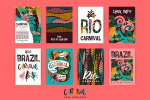 Carnevale del Brasile. Modelli vettoriali con elementi astratti alla moda.